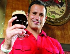 Dogfish's Sam Calagione and his Choc Lobster.