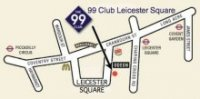 Map of The 99 Comedy Club in Leicester Square, London