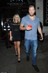 Members of the New Zealand team were seen leaving the Platinum Lace strip club via the back door, while English rugby player James Haskell and his girlfriend Chloe Madeley were also spotted outside (pictured)